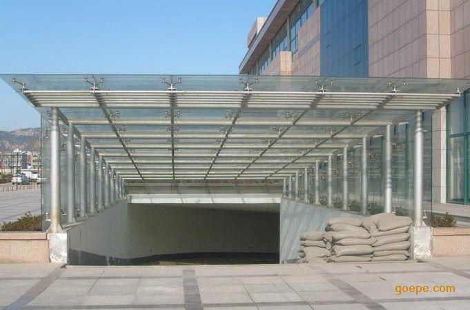 楼顶透明雨棚设计图
