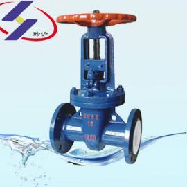 Z41F楔式衬氟闸�y