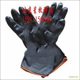 耐酸碱手套 工业手套 耐强酸碱 防化学防护手套