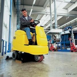 智能驾驶式洗地机|原装进口手推式商业洗地吸干机R140R