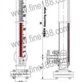 衬PTFE耐腐型(无盲区)磁性翻柱液位计