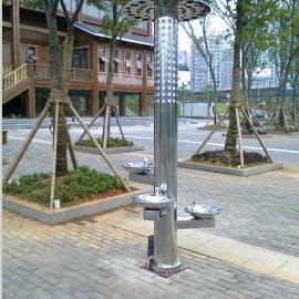 公园路灯饮水台