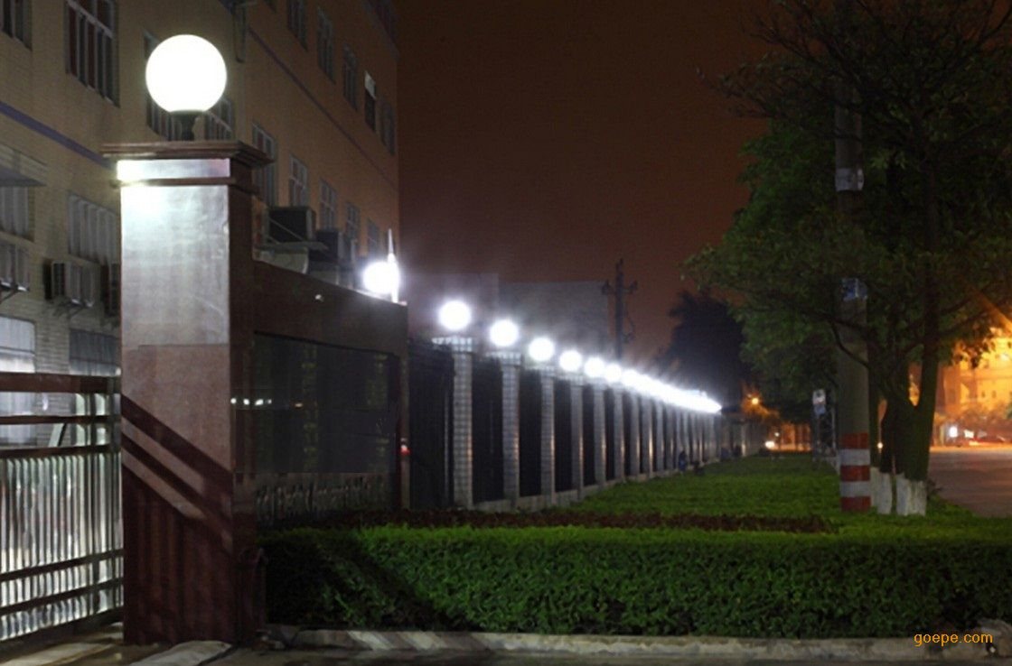 农村房子围墙柱子荧光灯效果图