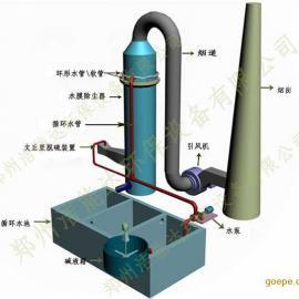 河南郑州复合式水膜脱硫除尘器-麻石水膜脱硫除尘器升级版