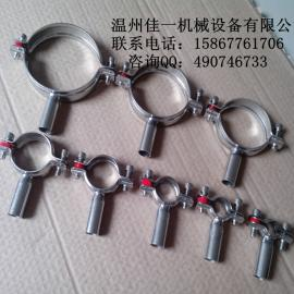 供应镀锌管用不锈钢管卡、管夹、管箍(现货)