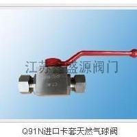 CNG球阀 卡套式Q91N 焊接式Q21N-江苏鑫盛源阀门