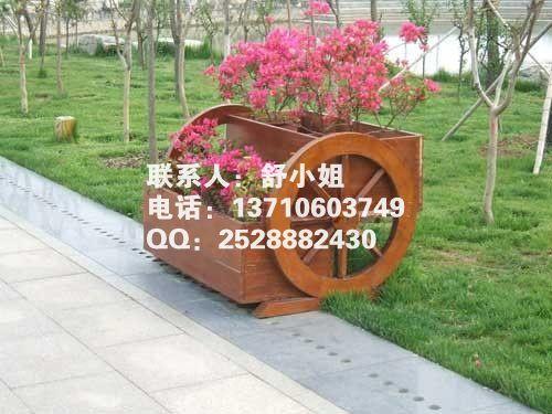 木制花箱,景观花箱图片