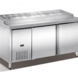 雅绅宝冷柜 商用制冷 UC保鲜工作台 双门放分数盘冰柜