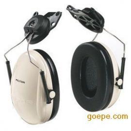 3M PELTOR H6P3E挂安全帽式耳罩,配安全帽耳罩
