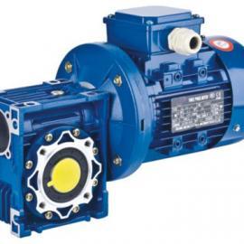 NMRV铝合金涡轮+万鑫普通电机 YB2防爆电机蜗轮蜗杆