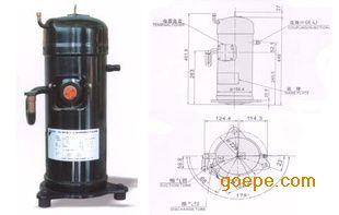 大金5.5匹空调制冷压缩机JT170GABYGABY11Lv工程工程饮水cad图图片