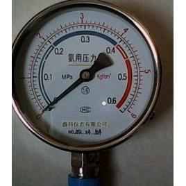不锈钢氨用压力表