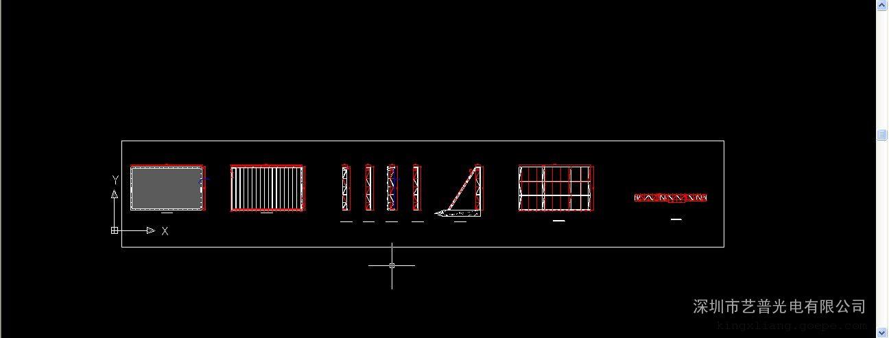 室内外全彩led显示屏钢架结构图3d