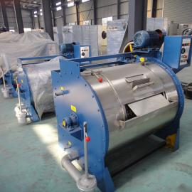 100kg半自动卧式工业洗衣机
