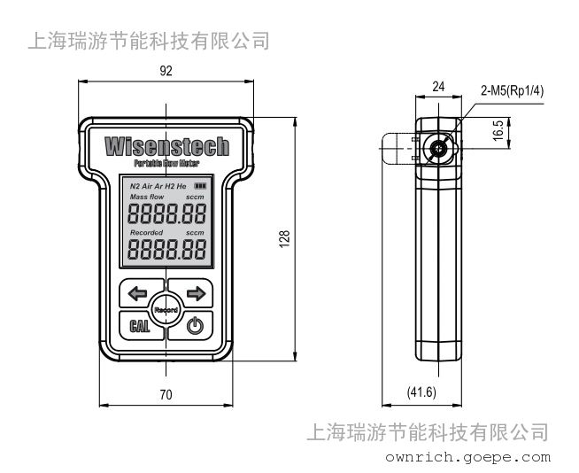 便携式气体流量计/空气/氧气/氮气/微小流量计