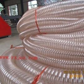 不含塑化剂PU钢丝排风管,工业耐磨排风吸尘管上海厂家