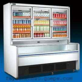 敞开式牛奶展示柜 子母柜 超市陈列柜 啤酒冷藏柜