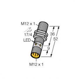 Ni4-M12-AD4X-H1141带连接线接近开关