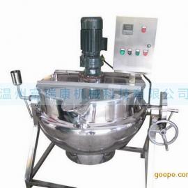 QJ系列可倾式夹层锅,电加热夹层锅,刮边式搅拌,蒸汽夹层锅