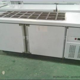 雅绅宝冰柜厂家直销 定做三文治保鲜工作台 卧式三文治柜