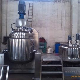 无锡厂家产不锈钢带加温冷却的350L高剪切混合乳化机