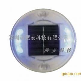 太阳能圆形道钉 塑料太阳能道钉 塑料道钉 太阳能道钉