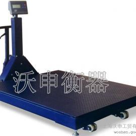 可移动带打印电子地磅秤,3吨电子地磅秤
