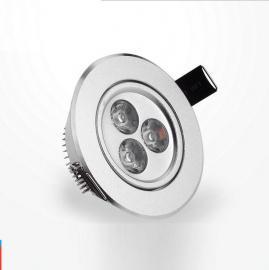 面环烤白漆LED天花灯LED射灯家装酒店地下商场暗装筒灯3W节能灯