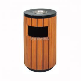 钢木垃圾桶批发价格 公园户外木条垃圾桶定制厂家