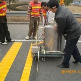 重庆云阳万州划线公司 道路划线 热熔冷漆划线打夯群雄价格