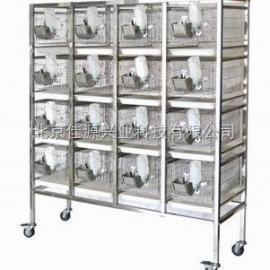 不锈钢干养式大鼠实验笼架