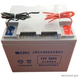 胶体免维护蓄电池12V38AH