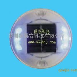 圆形太阳能道钉 圆形太阳能塑料道钉 太阳能道钉
