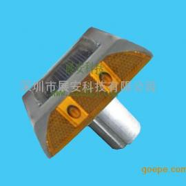 太阳能带脚道钉 太阳能双面道钉 太阳能铸铝道钉