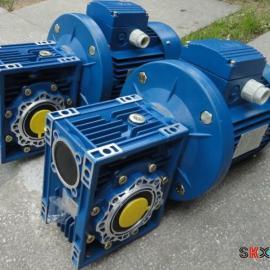 铝合金NMRV063蜗轮减速箱-0.75KW万鑫电机马达