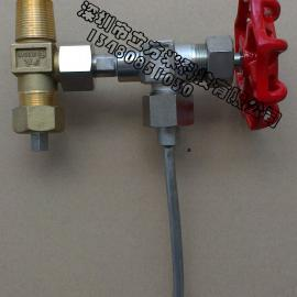 氯瓶连接阀 角阀QF-10 氯气铜管