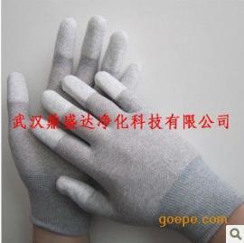 热销湖北武汉碳纤维指部PU涂层涂指静电手套