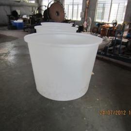 长沙500L圆桶批发,低价出售带盖塑料桶,液体调浆桶