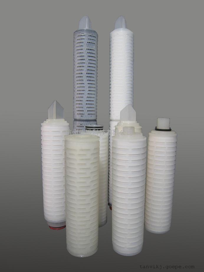 聚四氟乙烯膜折叠滤芯|PTFE空气除菌滤芯