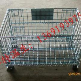 坪山工业专用折叠式铁笼 物流重型移动铁笼 标准仓储笼价格