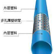 钢丝网扁骨复合管|PE孔网钢带复合管