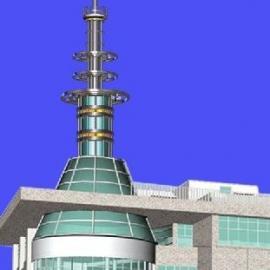 装饰塔使整个楼体外观完美,和谐统一,体现不同的行业特色,