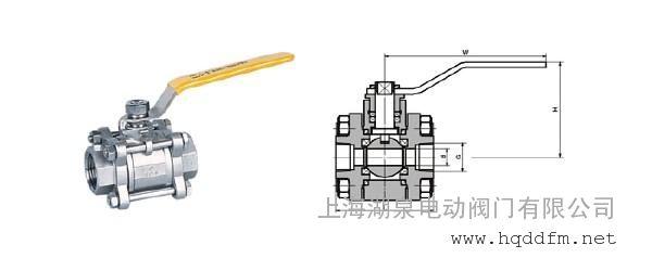 球阀一片式,二片式,三片式,不锈钢内,外螺纹球阀图片