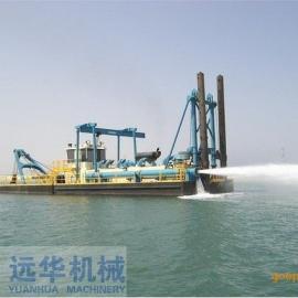 安装调试中的绞吸式清淤船