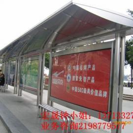 广东专业定做不锈钢候车亭公交站台款式多样化