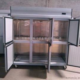 经济款六门保鲜柜 六门厨房冷藏柜 雅绅宝工程款冷柜