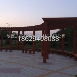 塑木廊架陕西生产厂家