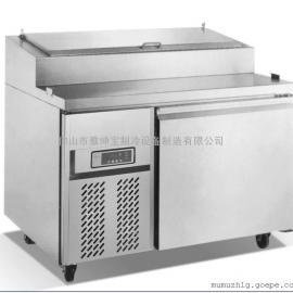 厂家直销浙江尊宝比萨店制冷设备/带盖比萨柜/三文治比萨柜