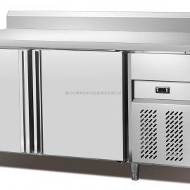 厂家销售冷藏工作台 雅绅宝厨房冰柜 不锈钢操作台