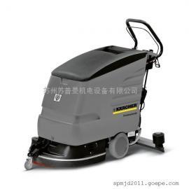 进口刷地机|手推式洗地机|凯驰洗地机|盘刷型洗地吸干机